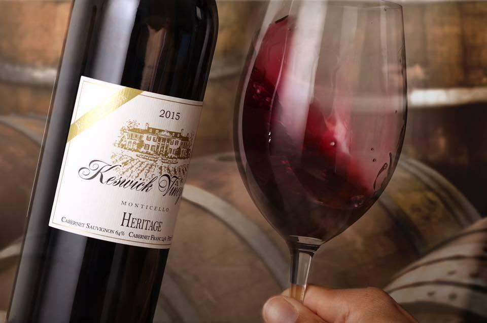 keswick vineyards cabernet sauvignon virginia wine