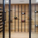 glass wine cellar walls doors walls cooling racks storage aging whisperkool