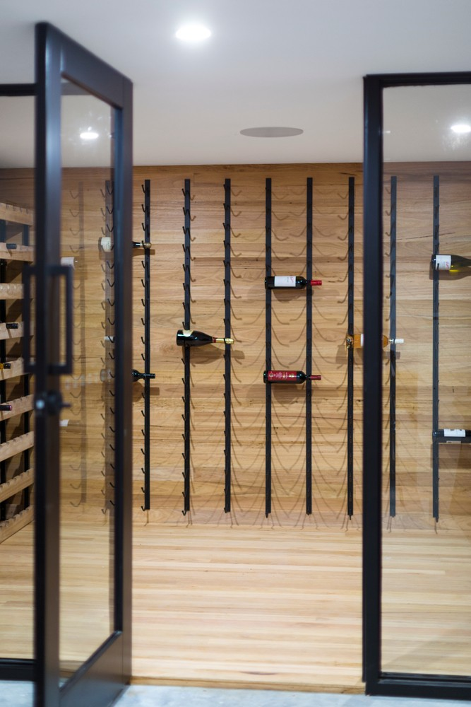 glass wine cellar walls doors walls cooling racks storage aging whisperkool